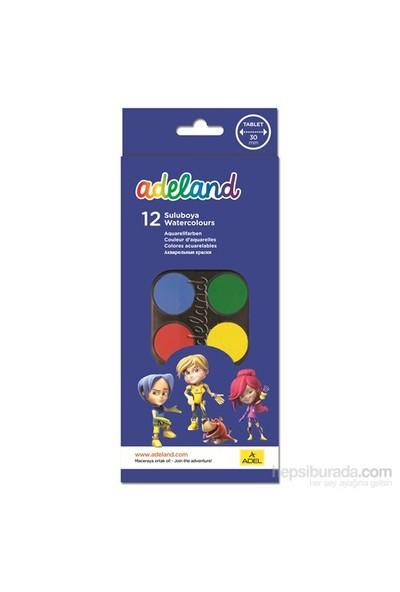 Adeland Suluboya 12 Renk Büyük Boy (30mm)