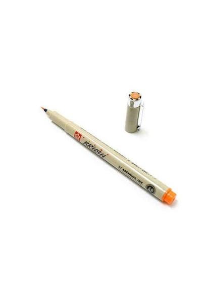 Sakura Pigma Brush Pen Çizim Kalemi Fırça Uçlu Orange Turuncu