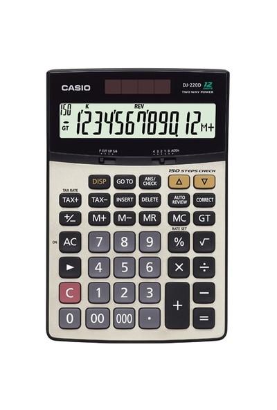 Casio Hesap Makinesi Masaüstü Dj-220 12 Hane