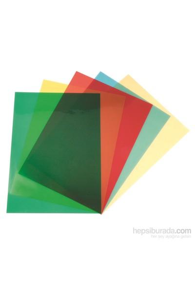 Sarff Pvc 160 Mic A4 Şeffaf Renkli Sarı Cilt Kapağı 100 Ad. 15201006