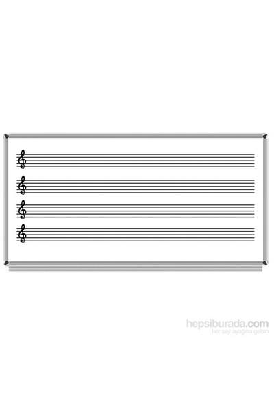 Akyazı 120x200 Laminat Müzik Çizgili Yazı Tahtası