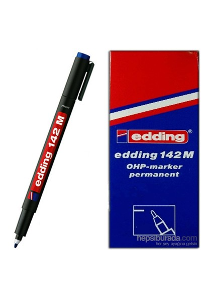 Edding 142M Permanent Kalem Cam Cd Asetat Kırmızı 10 Lu Paket