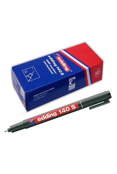 Edding (E-140S) Asetat Kalemi Siyah 10 Lu