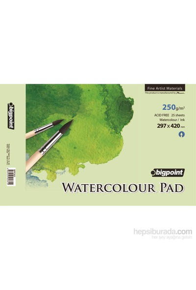 Bigpoint Bpp303 Water Colour Pad 250Gr 25 Yp A3 Bpp303