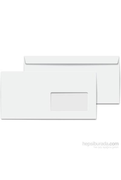 Asil Pencereli Diplomat Zarf Ölçüleri 105X240 Beyaz 500 Adet