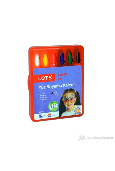 Lets Yüz Boyası 6 Renk L6806