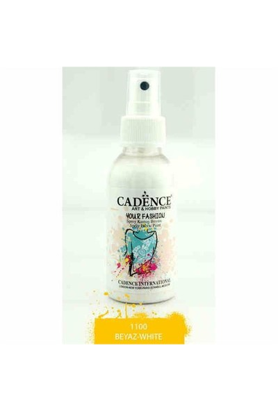Cadence Your Fashion Sprey Kumaş Boyası 100 Ml. Beyaz 1100