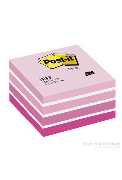3M Post-it® Küp Not, Pembe Tonlari, 450 yaprak, 76x76mm