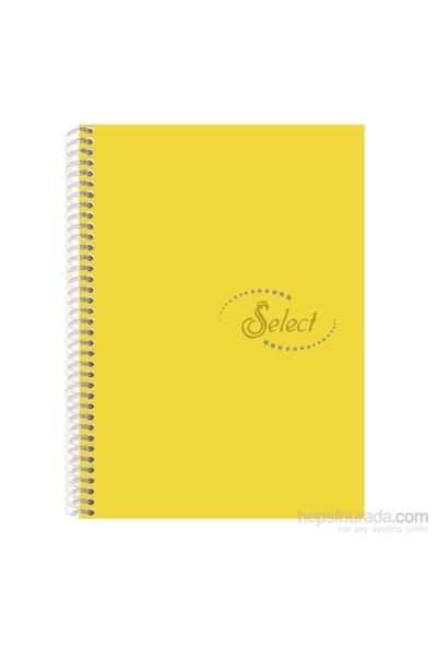 Notte 60101 Select Sarı Plastik Kapak Spiralli A4 120 Yaprak Kareli