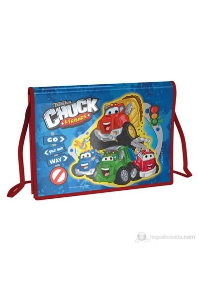Chuck And Frıends Kapaklı Proje Çanta 28*37 cm (Lacivert-Kırmızı)