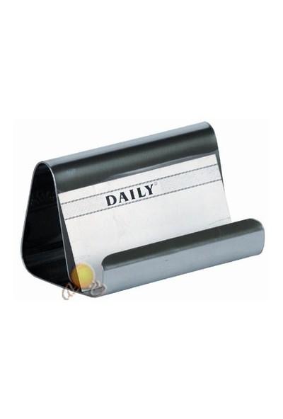 Daily FIrst Class Aksesuarlı Krom Düz Kartvizitlik (X486)