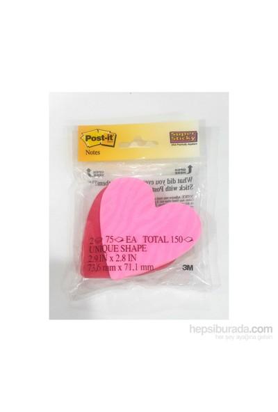 Post-İt Yapışkanlı Not Kağıdı Kalp Şekilli