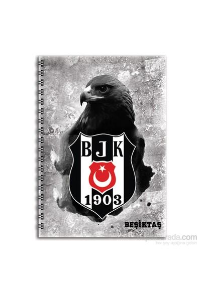 Keskin Color 320122B Beşiktaş Plastik Kapak Spiralli A4 80 Yaprak Kareli