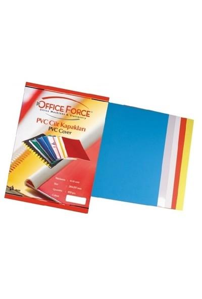 Office Force A4 PVC Şeffaf ve Renkli Şeffaf Cilt Kapakları 160 Micron