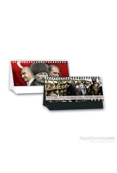 Keskin Color MTK-721 Karton Destekli Üçgen Masa Takvimi Atatürk