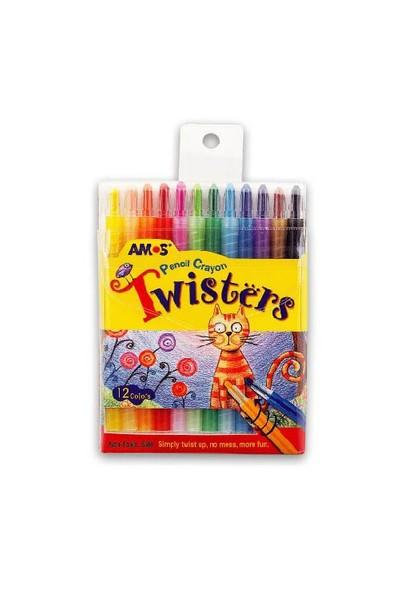 Amos Twisters Kalem Tipi Mum Boya 12'Li Rc12Pst