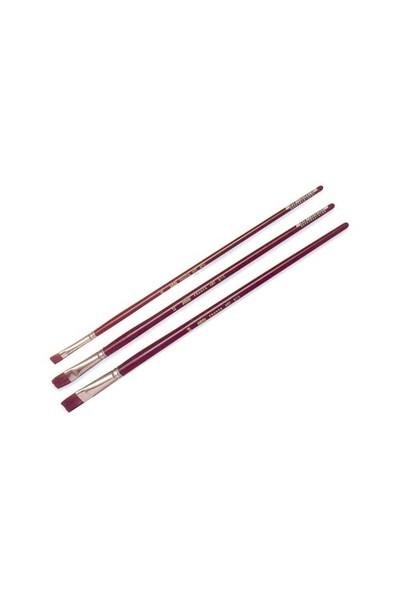 Pebeo 210 Seri Yağlı Boya Fırçası - Yassı Samur Kıl No: 6