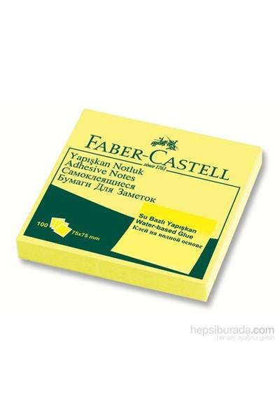 Faber-Castell Yapışkan Notluk 75x75mm Sarı