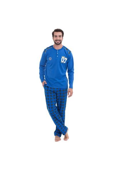 Fenerbahçe Lisanslı Erkek Pijama Takımı Mavi