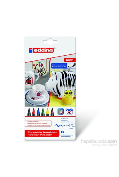 Edding Porselen Kalemi E-4200 6 Lı Set Standart