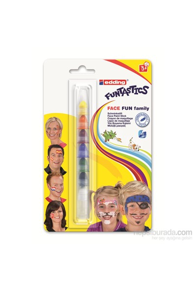 Edding Funtastics Yüz Boyama Kalemi Karışık Renk 8'li