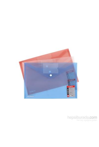 Globox Kartlı Çıtçıtlı Mavi Dosya A4 6212