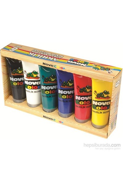 Nova Color Nc-253 Akrilik Boya Plastik Tüpte 75 gr 6 Renkli Set