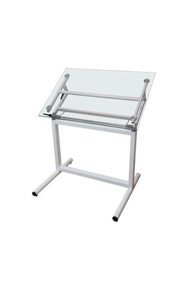 Garanti 80X120 Profesyonel Camlı Çizim Masası