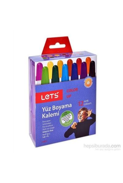 Lets Yüz Boyama Kalemi 12 Renk Çevirmeli L6812