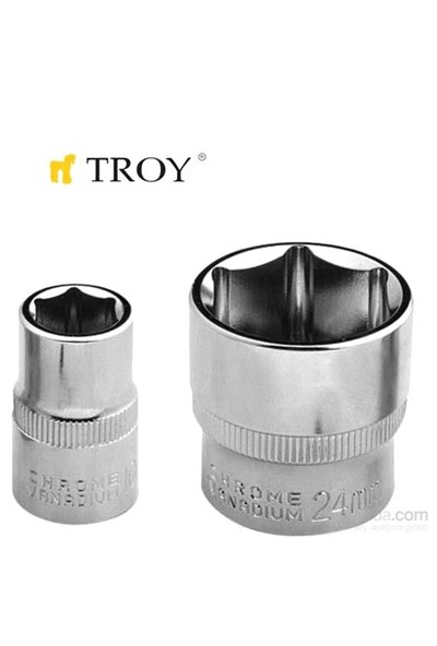 "Troy 26172 3/8"" Lokma (Ölçü 18Mm-Çap 25,8-Uzunluk 30Mm)"