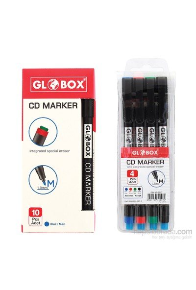 Globox Cd Kalemi M Karışık 4'Lü