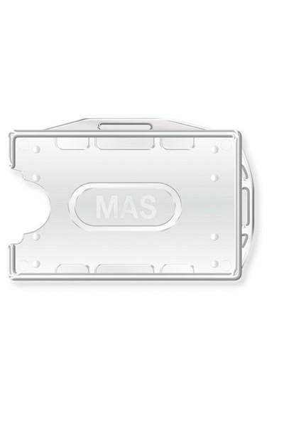 Mas 3524 Plastik Kart Muhafaza- Çift Yüz-54X86-Seffaf25 Li,