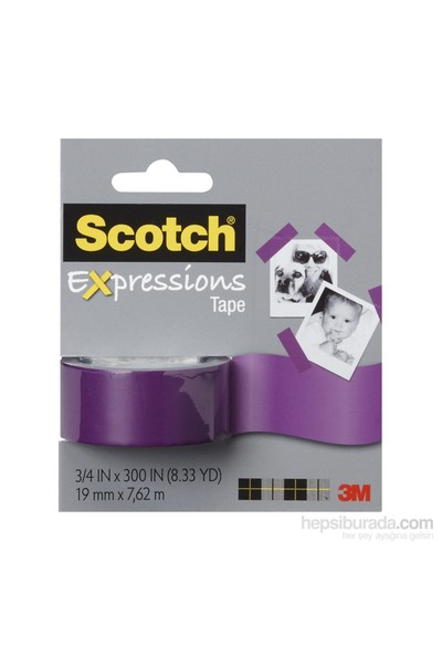 Scotch® Renkli Bant Mor 19mm x 7,62m