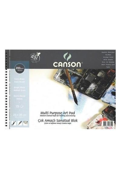 Canson 25X35 Resim Defteri 200Gr 15Sayfa 200350