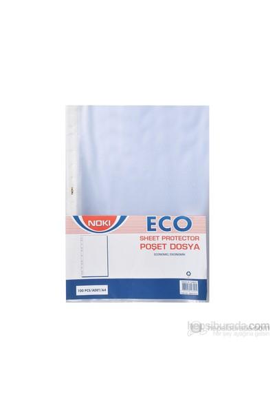 Noki Eco A4 Beyaz Kenarlı Delikli Poşet Dosya Ekoomik Gömlek Föy 10 Paket