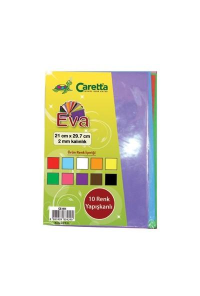 Caretta A4 10'Lu Yapışkanlı Eva Karışık Renk Ce-011