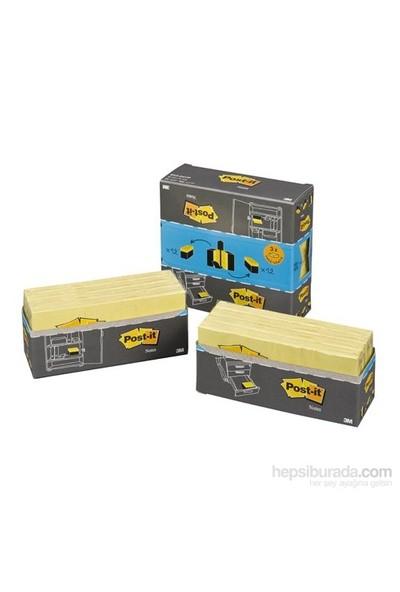 Post-it® Not, Cabinet Pack, 653 boy, Sarı 24 pad/kutu; 3 pad Bedava, Perforeli ambalaj