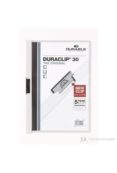 Durable Duraclip 30 Sayfa Kapasiteli Sıkıştırmalı Dosya (2200) Beyaz