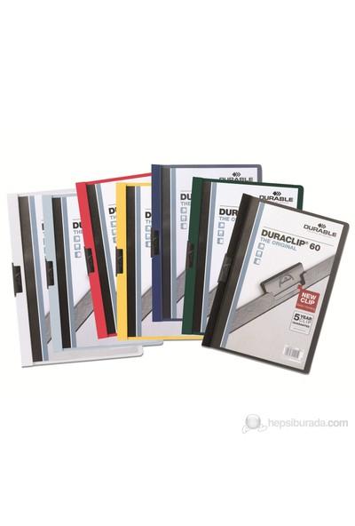 Durable Duraclip 60 Sayfa Kapasiteli Sıkıştırmalı Dosya (2209) Beyaz