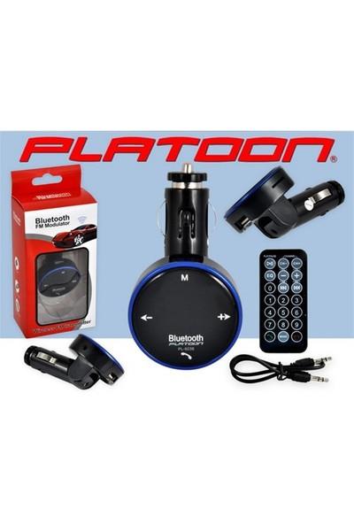 Platoon Pl-9238 Araç Oto Bluetooth Fm Transmitter Çakmak Şarj