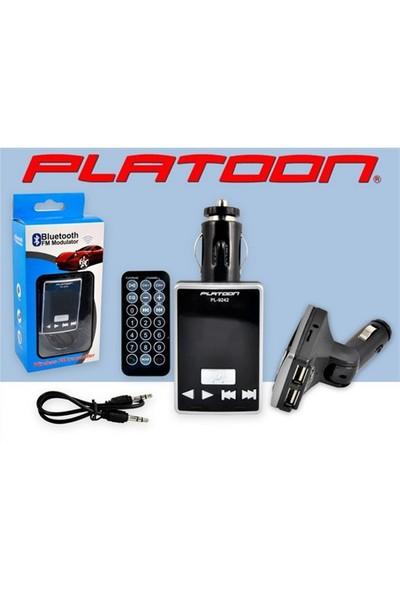 Platoon Pl-9242 Araç Oto Bluetooth Fm Transmitter Çakmak Şarj