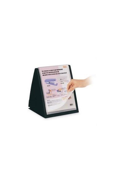 Serve Masa Ustu Dıkey Prezantasyon Dosyası,20 Sayfa,A4 Siyah Sv-6006