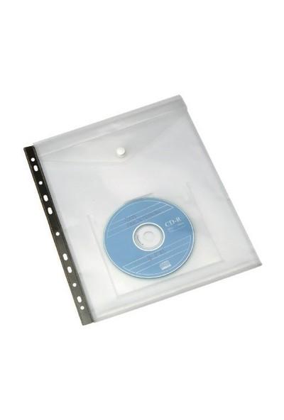 Serve Cd Cepli Çıtçıtlı Zarf,Klasöre Takılabilir Sarı Sv-6108