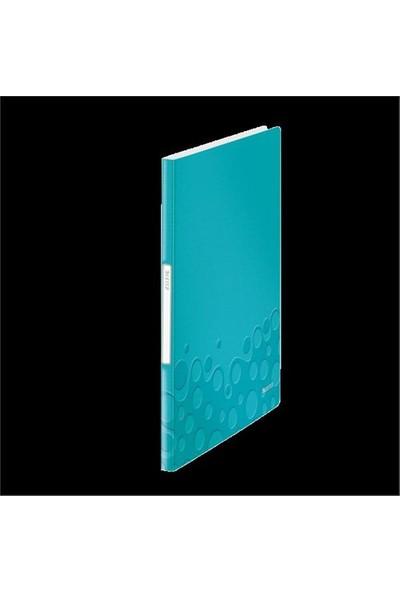 Leitz Active Wow Sunum Dosyası 20 Poşetli Metalik Buz Mavisi 46310051