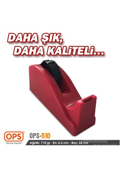 Ops OPS510 Bant Makinesi 66 mt (Kırmızı)