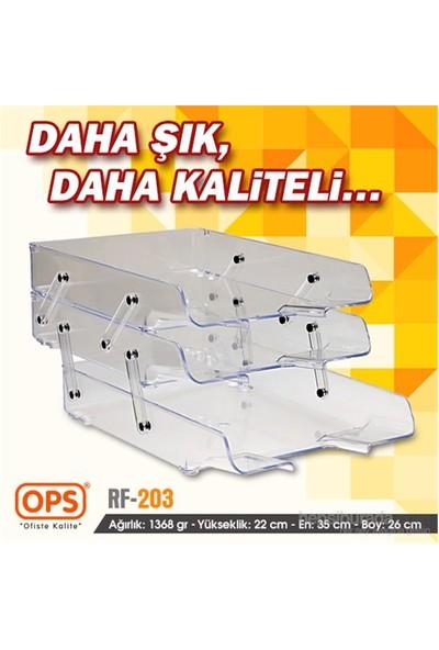 Ops RF203CT Üçlü Evrak Rafı (Şeffaf)