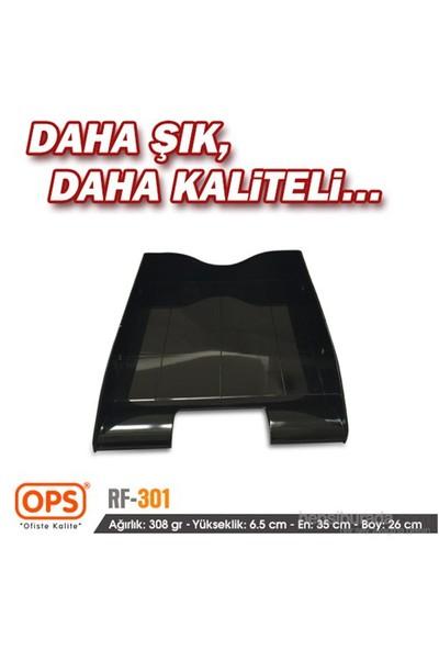 Ops RF301SC Tekli Evrak Rafı (Siyah)