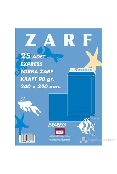 Yener Torba Zarf 191 240x320 Mm 90gr Kraft Express 25'li