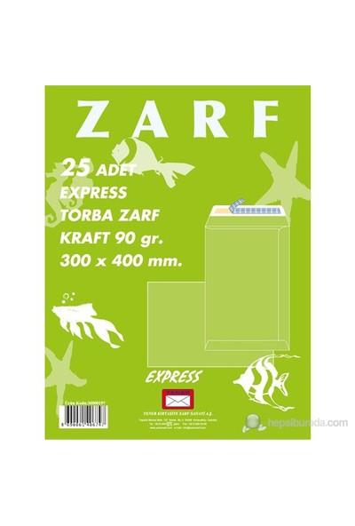 Yener Torba Zarf 197 300x400 Mm 90gr Kraft Express 25' Li