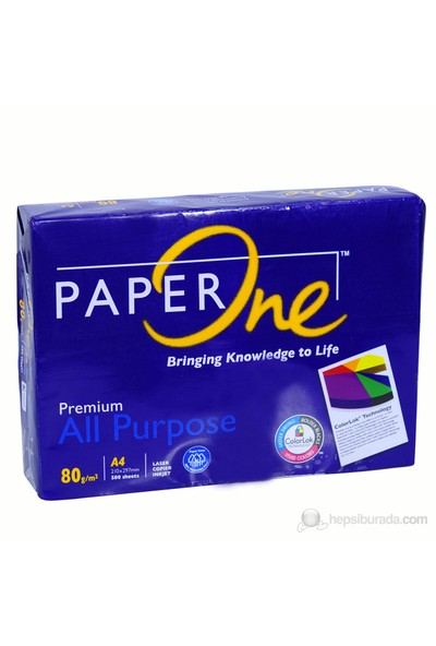 Paper One A4 80 Gr/m² Fotokopi Kağıdı 500 Ad/pk.